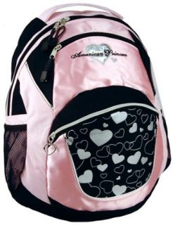 Pink American Princess Hearts Backpack / School Backpack