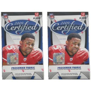 NFL 2009 Certified Trading Card Blaster Boxes (Case of 2)