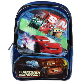 Disney / Pixars Cars Mission Unstoppable 16 inch Two pocket Backpack