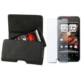 Leather Case/ Screen Protector for HTC Droid Incredible