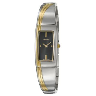 Pulsar Womens Gold plated Steel Dress Watch