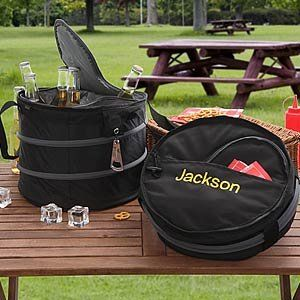 Personalized Collapsible Beverage Cooler   Drink Cooler