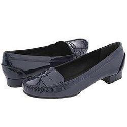 KORS Michael Kors Cabbie Navy Soft Patent Loafers