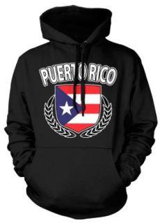 (Cybertela) Puerto Rico Flag Shield Sweatshirt Hoodie