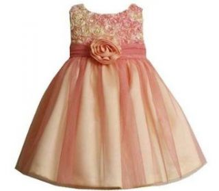 Bonnie Jean Girls Peach Bonaz Wedding Easter Dress , Peach