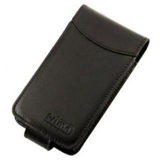 Black Prima iPhone Premium Leather Flip Style Case for 2G
