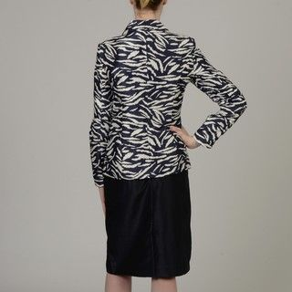 Allyson Cara Womens Zebra Stripe Skirt Suit