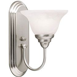 Bellona 1 light Fluorescent Brushed Nickel Wall Sconce Today $42.99 4