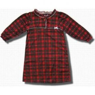 Red/Green plaid flannel nightgown for toddlers and girls