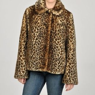 Generation NXT Junior s Faux Fur Leopard Print Jacket