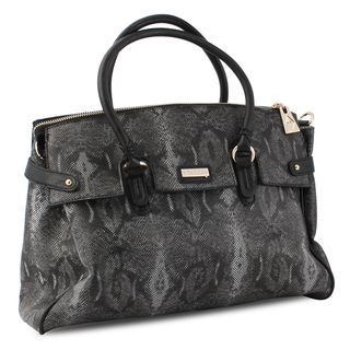 Miadora Rebecca Black Python Embossed Satchel