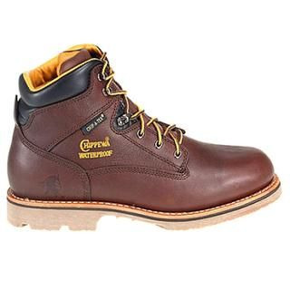 Chippewa Mens W 6 Waterproof Leather Boots Wide (Size 9.5