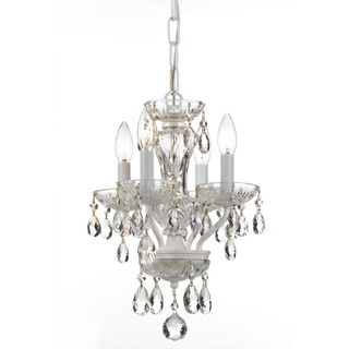 Transitional 4 light Warm White Crystal Chandelier