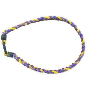 ianium Ionic Braided Necklace   Purple/Gold Spors