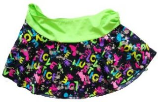Girls Colorful Metallic Swim Cover Up Skirt (18) Clothing