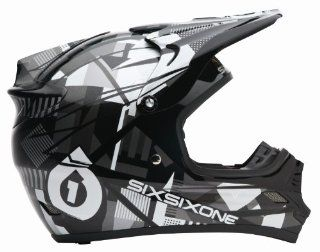 SixSixOne Flight II Plaid Helmet   Small/Black/White