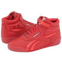 Reebok Kids Freestyle HI Jewels (Toddler/Youth) Flash Red/Silver