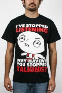 Family Guy   Ive Stopped Listening Mens T Shirt In Black