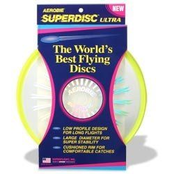 Aerobie Superdisc Ultra Flying Disc   Yellow Sports