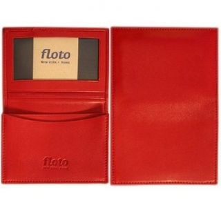 Floto Red Leather Business Card Case   wallet Clothing