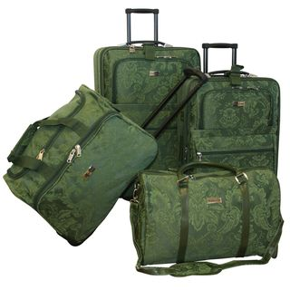 American Flyer Tradewinds Brocade 4 piece Luggage Set