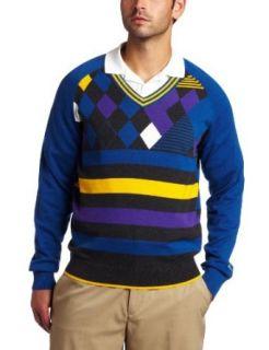 Puma Golf Mens Golf Argyle V Neck Sweater (Limoges, Large
