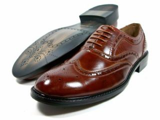 Aldo Italian Style Brown Oxford Lace Up Wing Tip Dress Shoes Shoes
