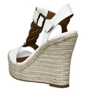 Zodiac USA Womens Quana White T strap Wedges
