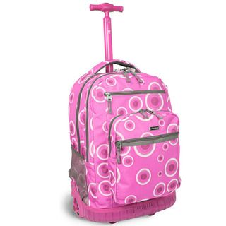 World Sundance Pink Target 19.5 inch Rolling Backpack with Laptop