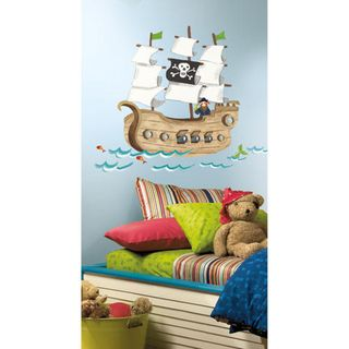 Pirate Ship Peel & Stick Giant Wall Decals