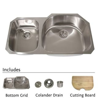 Highpoint Stainless Steel 38 inch Undermount 70/30 2 bowl Kitchen Sink