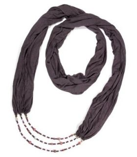 House Of Shakti Divine Love Scarf Necklace   Grey   One