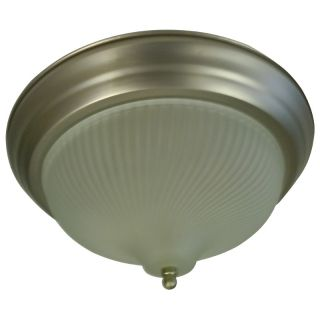 Frosted Prismatic Swirl 1 light Satin Nickel Flush Mount Today $24.99
