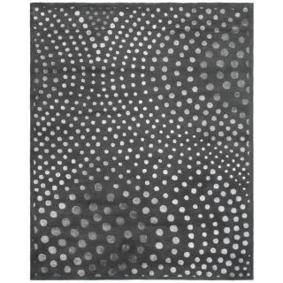 Soho Deco Wave Dark Grey N. Z. Wool Rug (96 x 136)