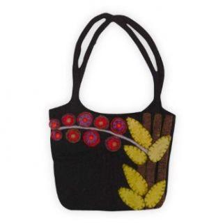 Rising Tide Felted Wool Leaf Bag (Black) Clothing