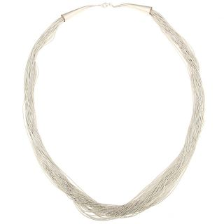 Moon Sterling Silver 30 strand 30 inch Necklace