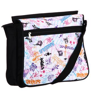 Angels Graffiti Wall Print Double Sided Messenger Bag