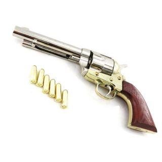 Pistolet Colt 45 doré argenté   Achat / Vente OBJET DÉCO   STATUE