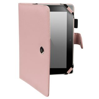 BasAcc Pink Leather Case for  Kindle Fire HD 7 inch
