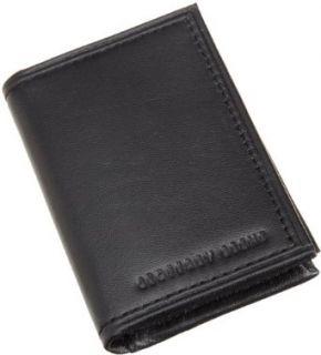 Geoffrey Beene Mens Mirage Slim Gusseted Card Case, Black