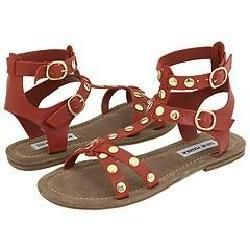 Steve Madden Bridgee Rust Leather Sandals
