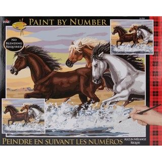 Paint By Number Kit   Mesa Horses