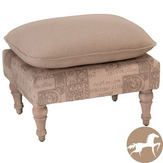 Christopher Knight Home Bishop Beige Two Tone Leaf Ottoman