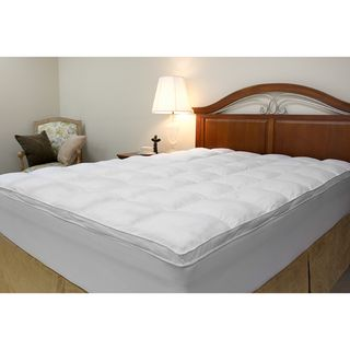 Microfiber Baffled Box Twin/ Full size Fiber Bed Topper with Skirt