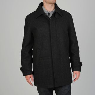 Geoffrey Beene Mens Gene Wool Blend Carcoat