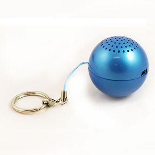Round Ball Navy Blue Key Chain Mini Speaker