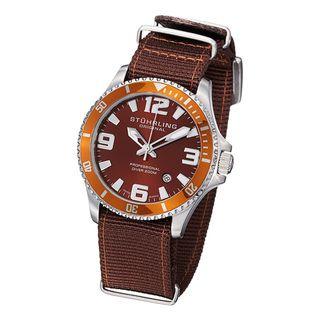 Stuhrling Original Mens Regatta Champion II Canvas Strap Watch