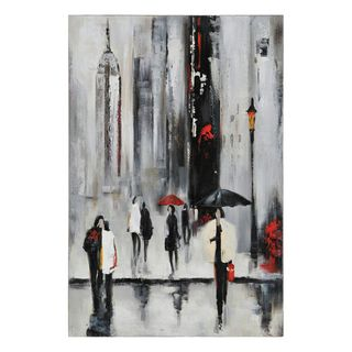 Lecavalier Bustling City I Hand painted Canvas Art