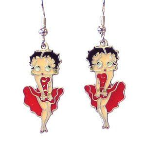 Betty Boop Officially Licensed Dangling Earrings Sports