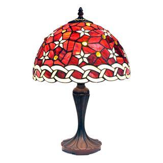 Tiffany style Petite Purple Star Table Lamp